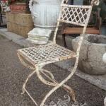 Sedia in ferro da giardino