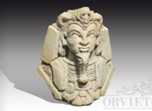Busto in marmo stile maschera funeraria egizia. Inizi '900.