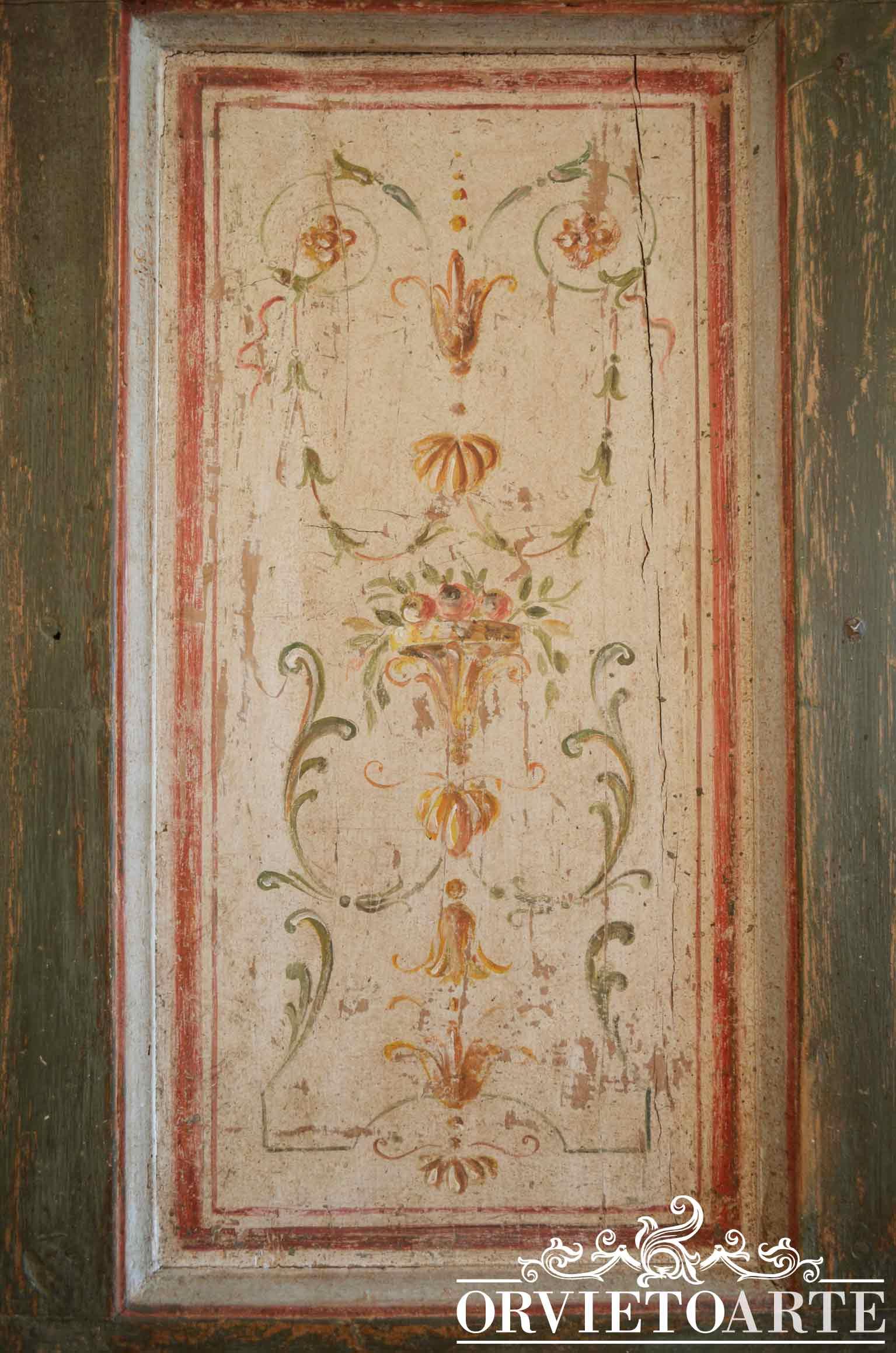 Orvieto arte porta decorata in stile marchigiano - Porte decorate antiche ...