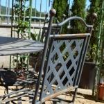 Schienale sedia in ferro modello imperiale