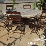 Tavolo in granito con sedie