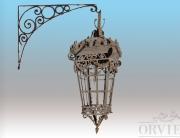 Lanterna gigante in ferro battuto