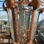 Lanterna in ferro, particolare interno