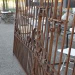 Particolare cancello in ferro battuto