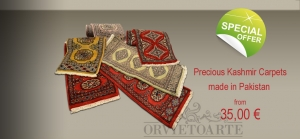 Precious Kashmir Carpets made in Pakistan from 35,00 €