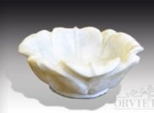 Vaschetta di marmo a fiore