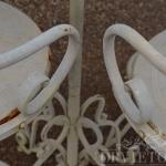particolare sgabelli in ferro da giardino