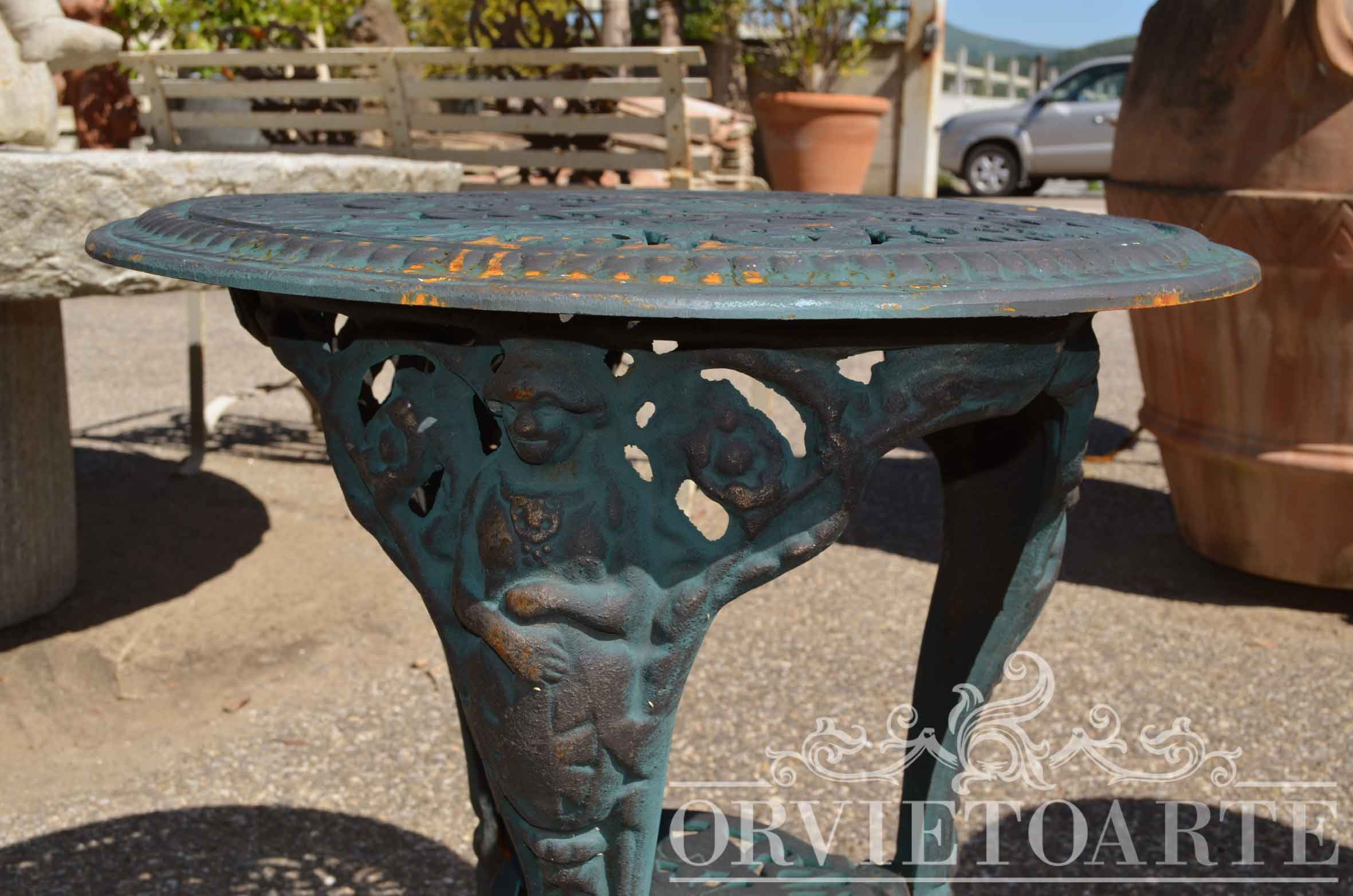 Orvieto arte tavolino in ghisa for Arredo giardino perugia