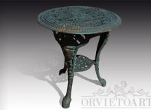 Tavolo in ghisa da giardino, Arredo giardino, Orvieto, Umbria, Italia