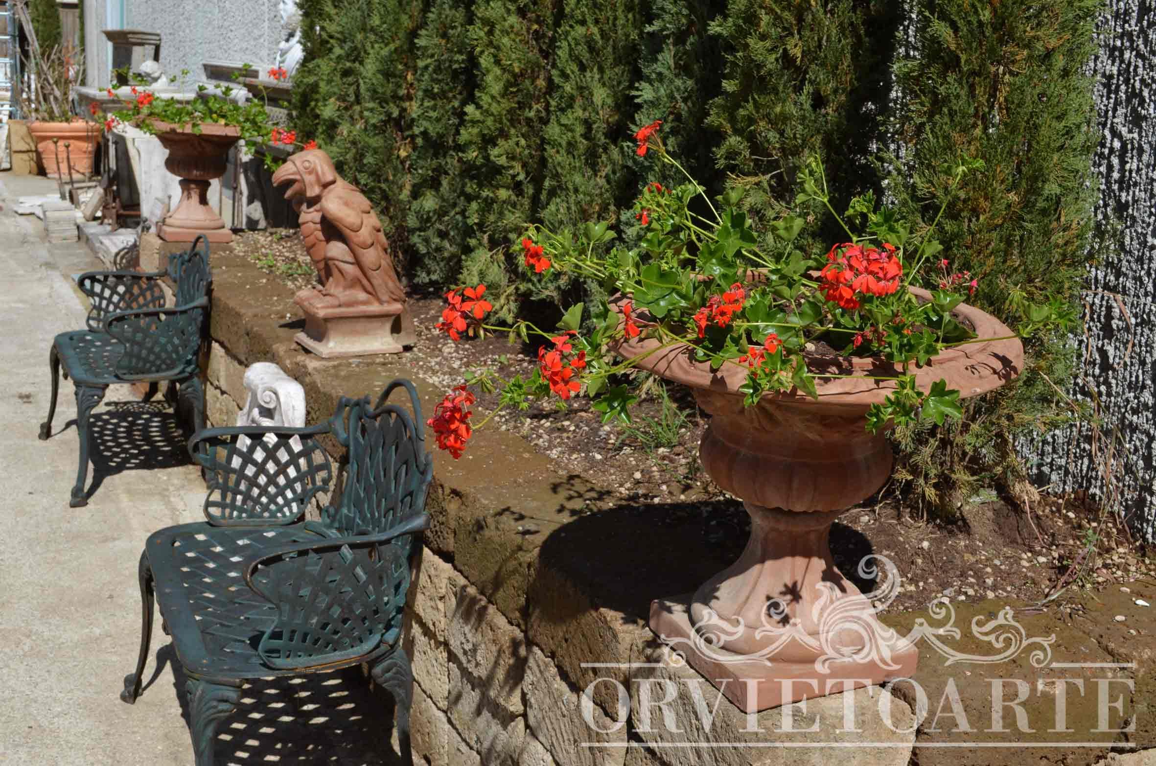 Vasi terracotta da giardino vaso da giardino basso in - Gardenia pianta da interno o esterno ...