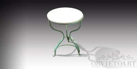 Tavolinetto in ferro e marmo