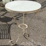 Tavolino in ferro e marmo
