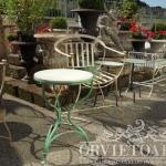 Tavolino ferro e marmo