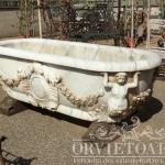Vasca in marmo di Carrara