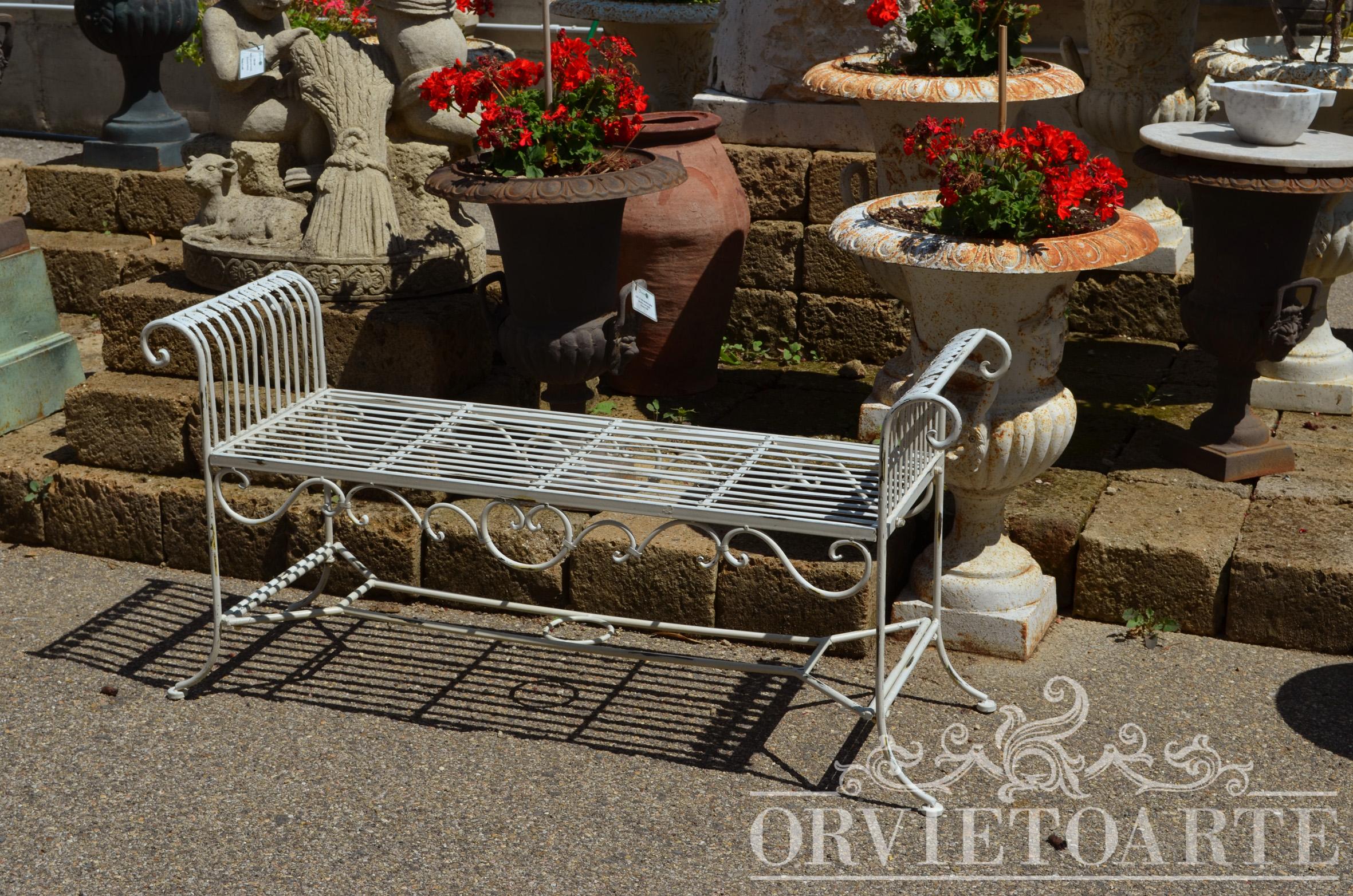 Orvieto arte dormeuse in ferro da giardino for Arredo giardino perugia