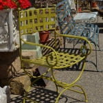 poltroncina regista ferro, Arredo giardino, Orvieto, Umbria, Italia