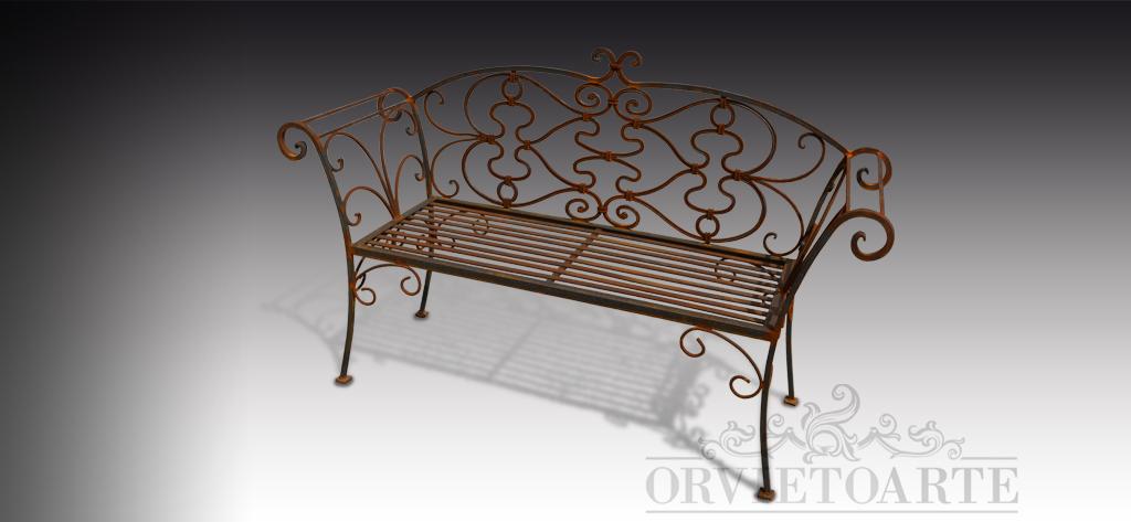 Orvieto Arte – Panchina in ferro battuto