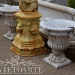Vaso in materiale composito, Arredo giardino, Orvieto, Umbria, Italia