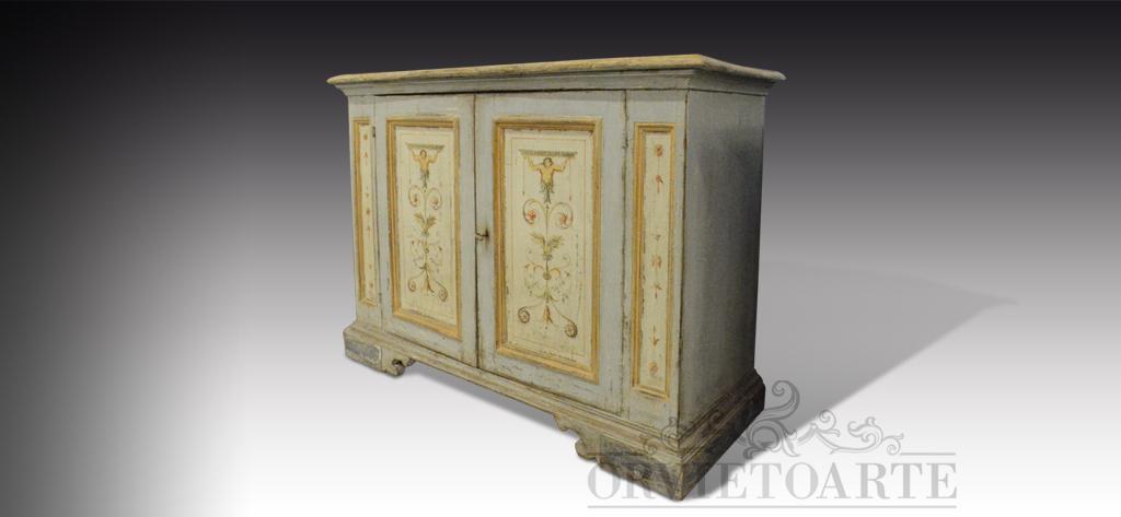 Orvieto arte credenza dipinta a mano con motivi a candelabra - Arte e giardino ...