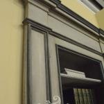 Libreria da muro shabby chic provenzale, Orvieto, Umbria, Italia