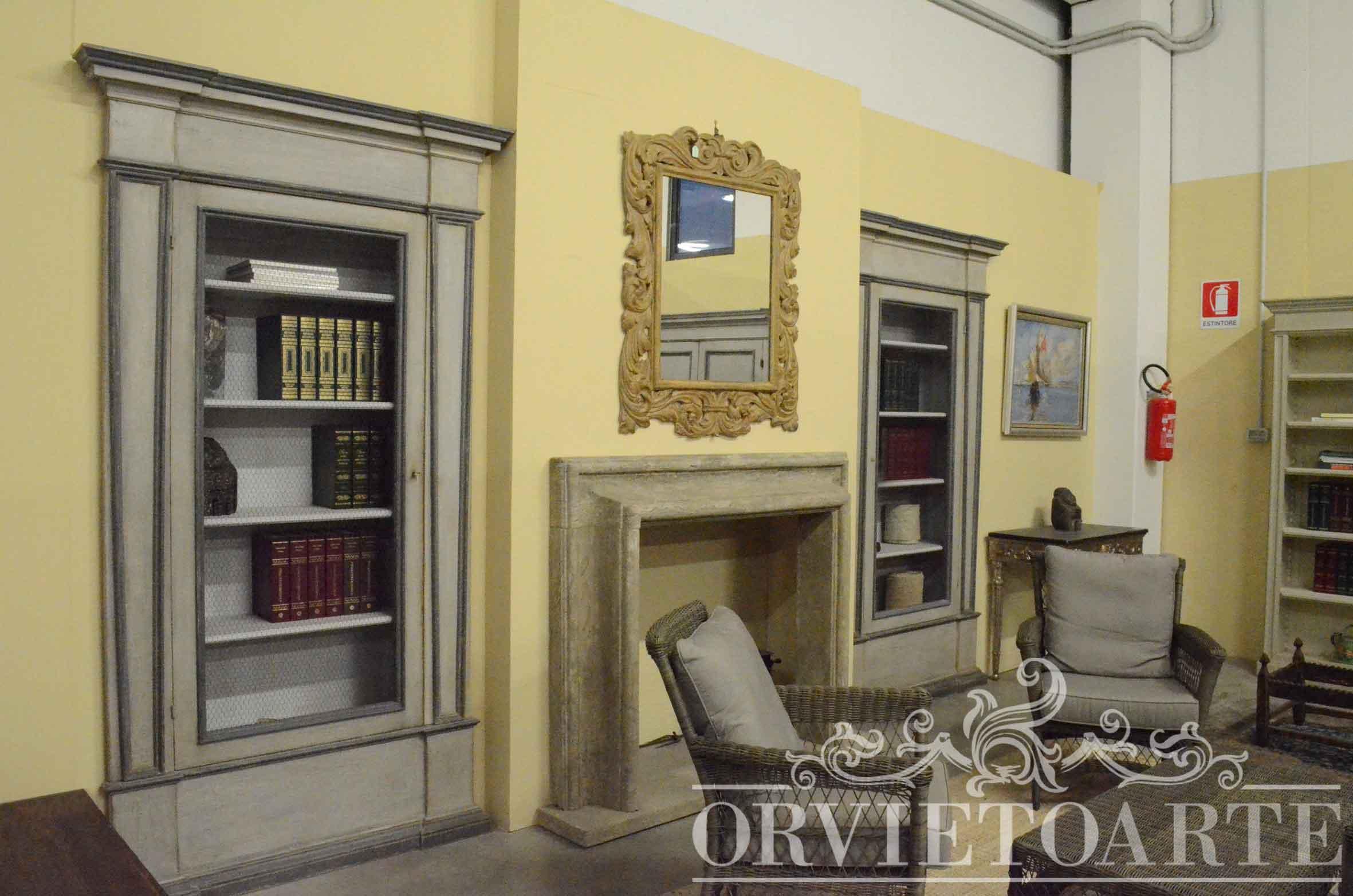 Orvieto arte libreria da muro stile provenzale - Porte stile shabby chic ...