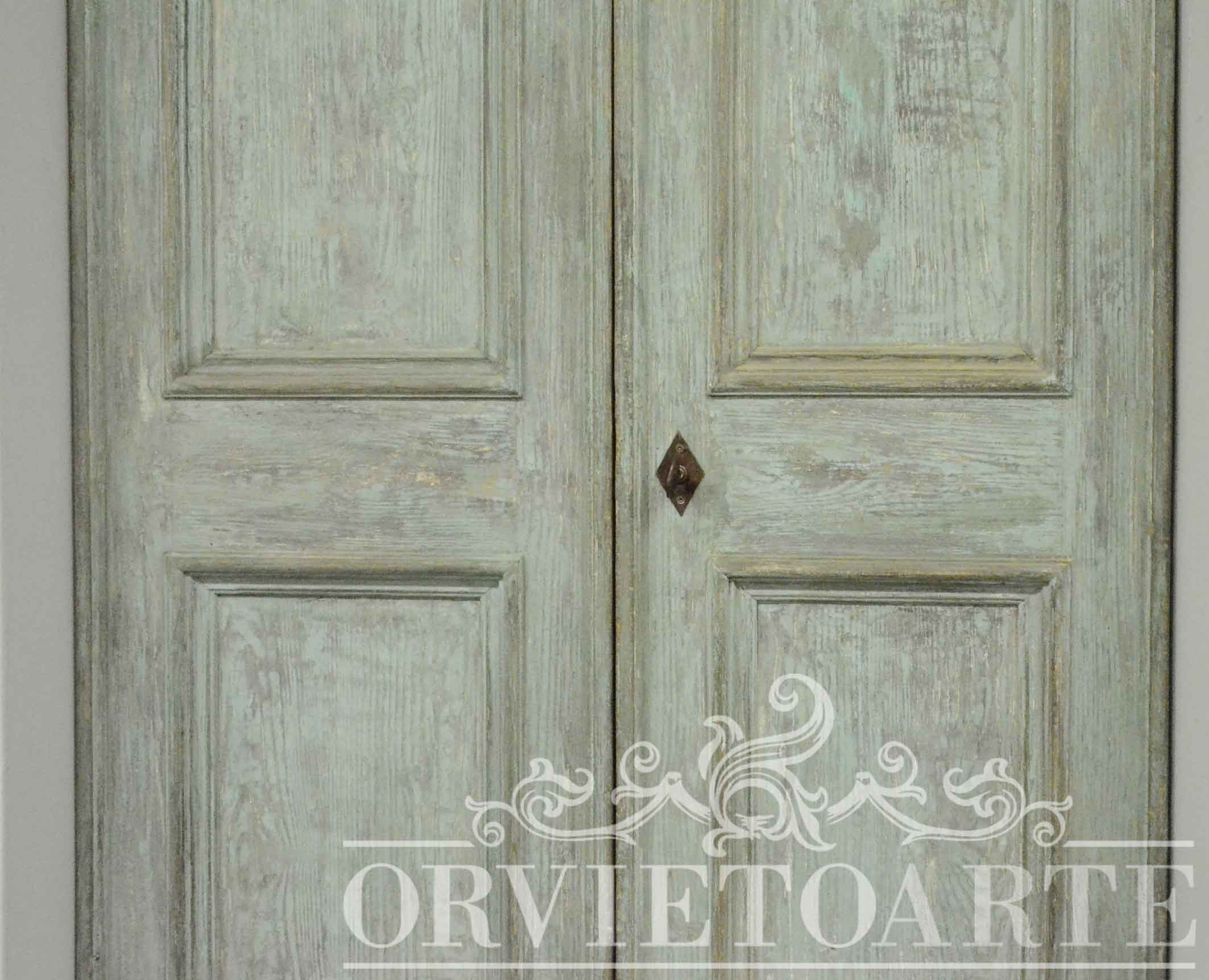 Orvieto arte porta in stile shabby chic - Porte country chic ...