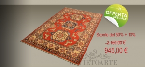 Offerta tappeto Kazak Pakistano, sconto del 5'% + 10%