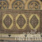 tappetino pakistan kashmir giallo, Orvieto, Umbria, Italia