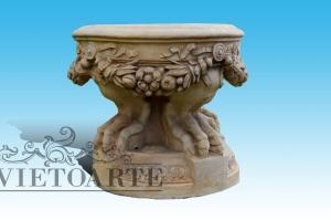 Sgabello in terracotta