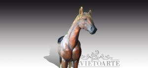 cavallo in bronzo a grandezza naturale