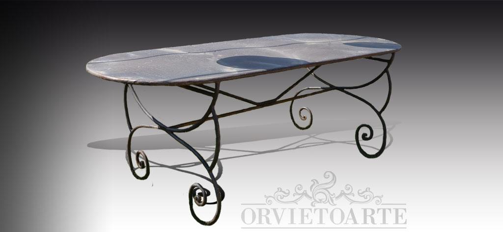 Tavoli Da Giardino In Marmo E Ferro Battuto Prezzi.Tavoli Orvieto Arte