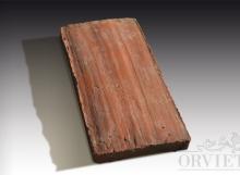 Pianella antica, lavorata a mano, colore cotto naturale.