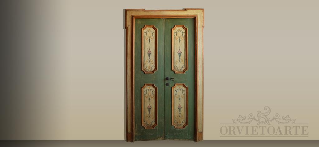 Porte antiche e in stile orvieto arte for Porte decorate antiche