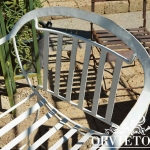 Schienale sedia in ferro modello regista