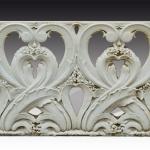 Balaustra antica in marmo bianco di Carrara