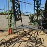 Particolare sedia in ferro