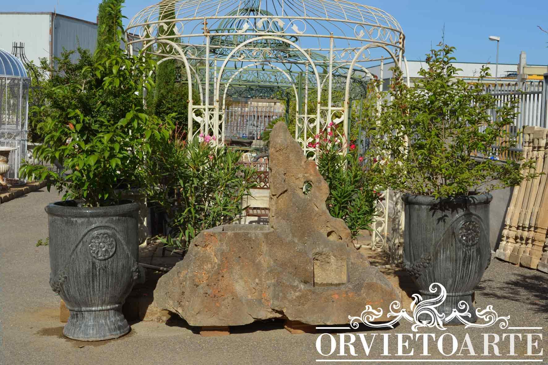 Orvieto arte coppia di vasi in terracotta smaltata - Giare da giardino ...