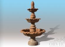 Fontana a cascata in ghisa