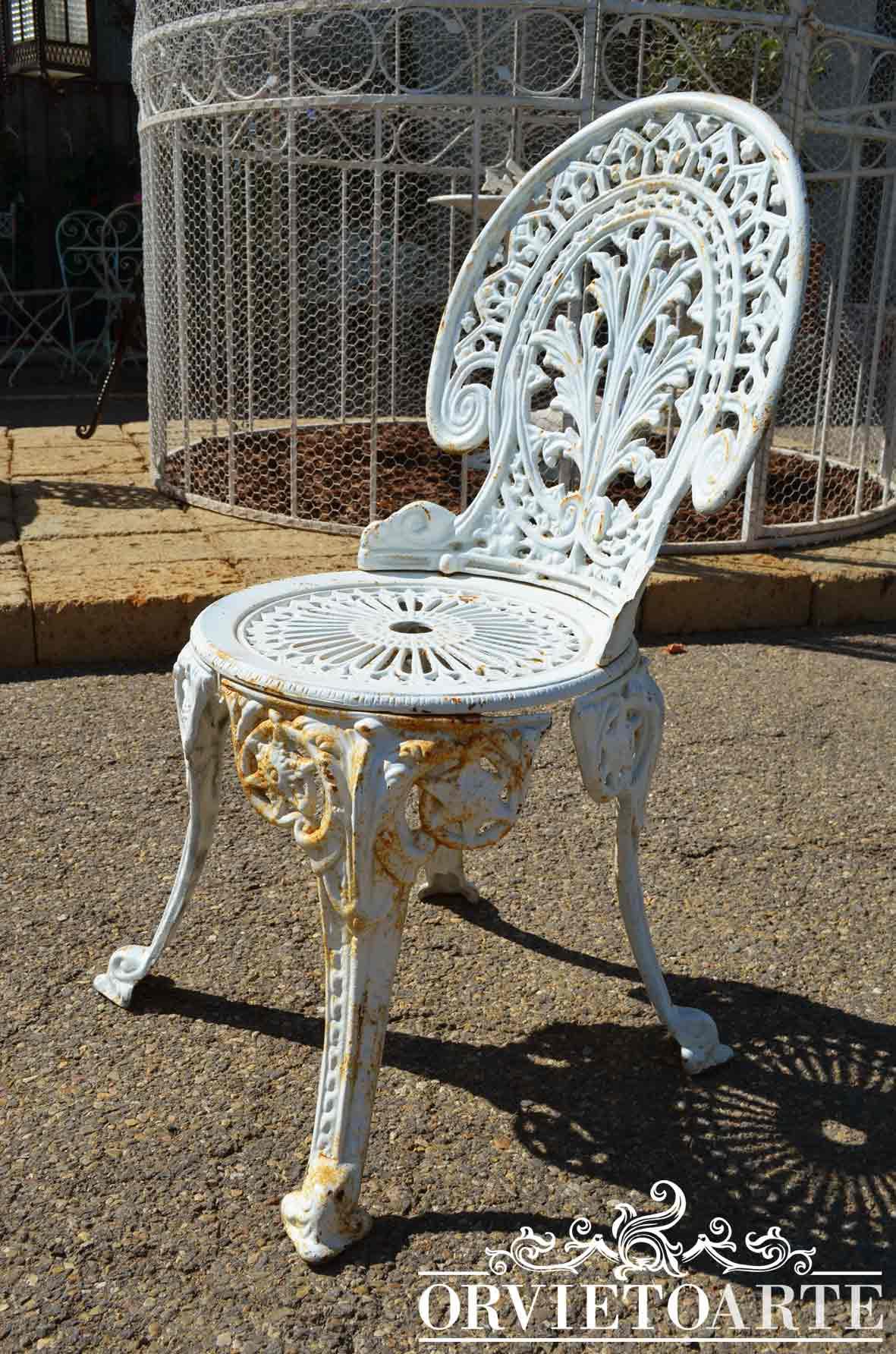 Sedie In Ghisa Da Giardino Prezzi.Orvieto Arte Sedia In Ghisa Di Vecchia Fattura