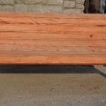 Panchina in legno e ghisa