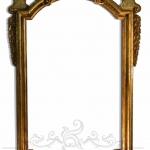 Cornice barocca in legno intagliato e dorata a mecca