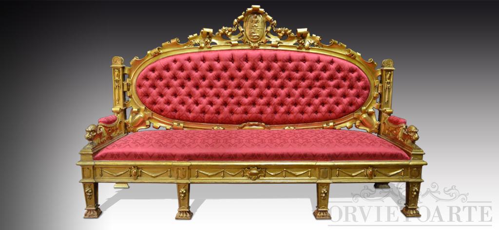 Orvieto arte divano dell 800 - Divano profondita 75 ...