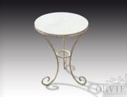 Tavolino tre piedi in ferro e marmo