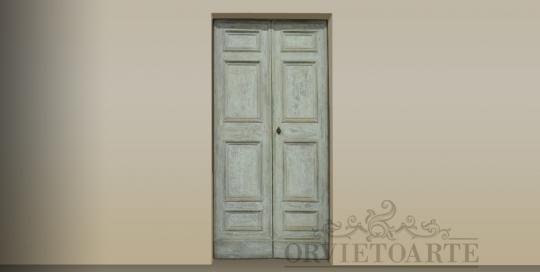 Porta shabby provenzale, Orvieto, Umbria, Italia