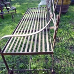 Panchina in ferrro giardino