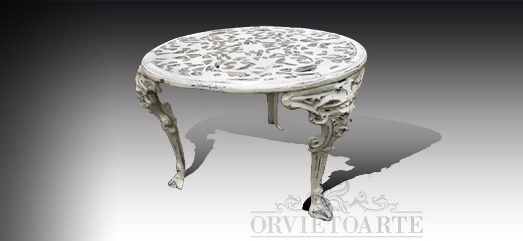 Tavoli In Ghisa Da Giardino.Orvieto Arte Tavolo In Ghisa