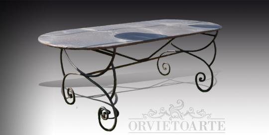 Tavoli In Ghisa Da Giardino.Tavoli Orvieto Arte